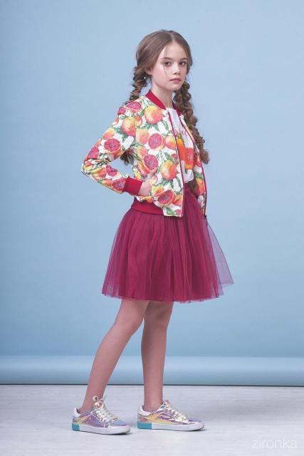 """Детский костюм тройка для девочки """"Грейпфрут"""", фото 1"""