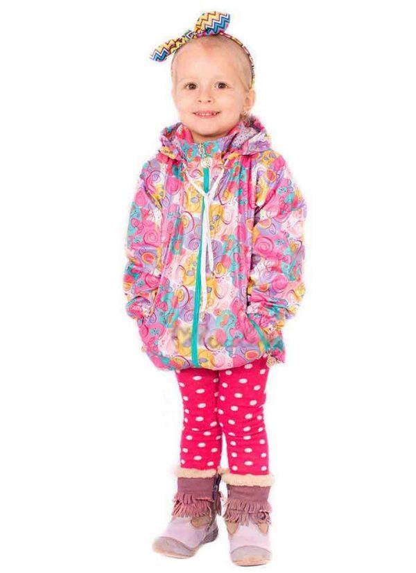 детская куртка ветровка для девочки 220312 фотография