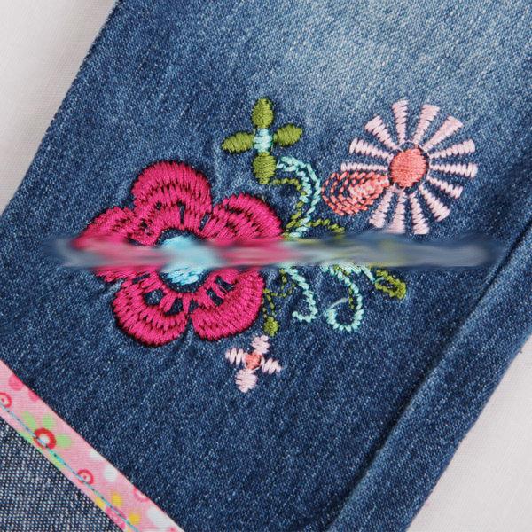 Детские качественные джинсы на девочку с вышивкой, фото 3
