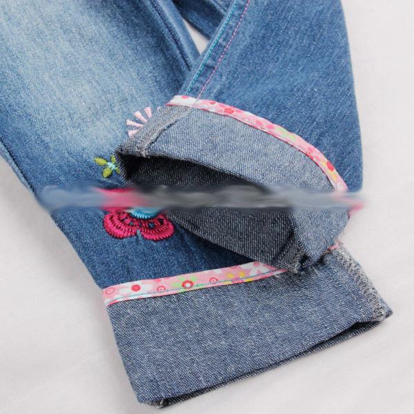Детские качественные джинсы на девочку с вышивкой, фото 4