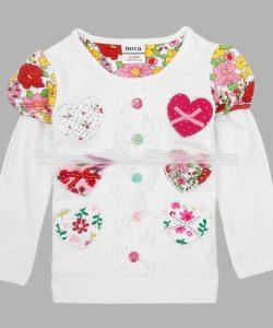 батник для девочки нарядный сердечко 39222 фотография