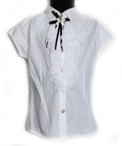 блуза школьная для девочки жабо 307163 фотография