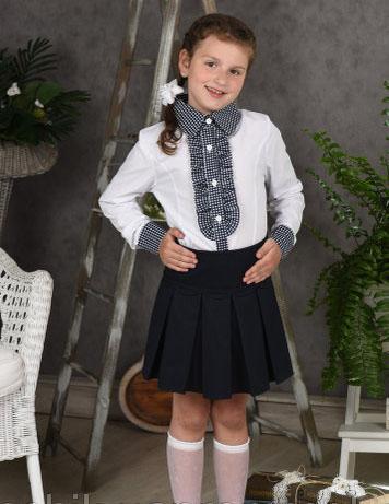 блузка для девочки школьная клеточка 2016 фотография