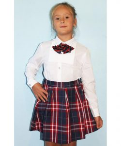 блузка для девочки в школу 2706182 белая 2706182 фотография