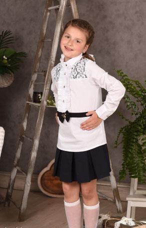 блузка школьная для девочки поясок 2020 фотография