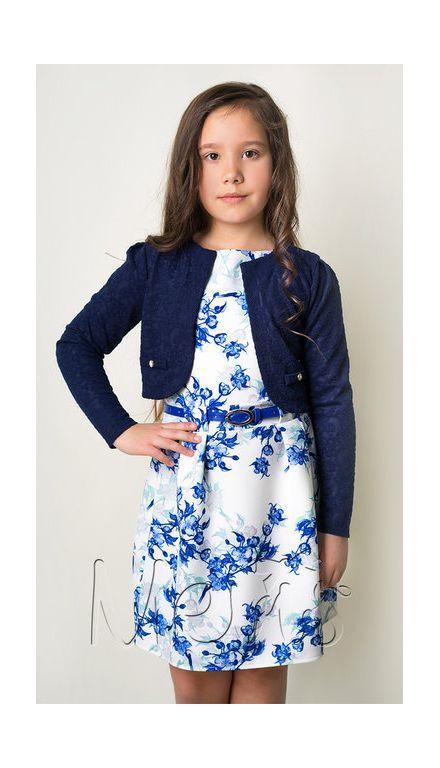 болеро для девочки трикотажное с длинным рукавом 21218 фотография