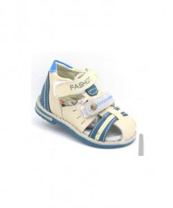 детские светлые босоножки для мальчика 1108-5 фотография