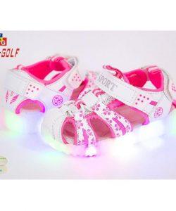 босоножки для девочки c подсветкой 23355 фотография