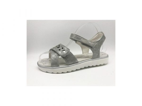 босоножки для девочки подростка серебро, размеры 32-37 3702 фотография