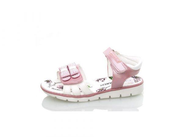 босоножки для девочки розовые на липучках, 26-31 р. B1821 фотография