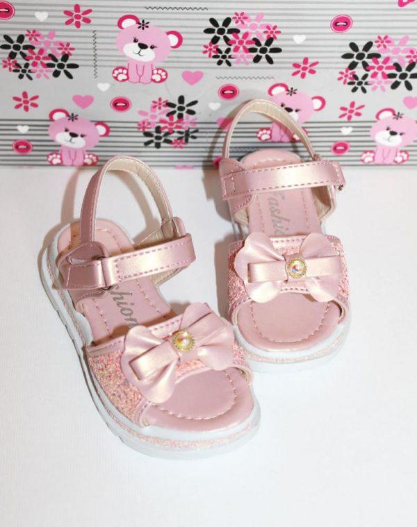 босоножки нарядные для девочки розовые 802 фотография