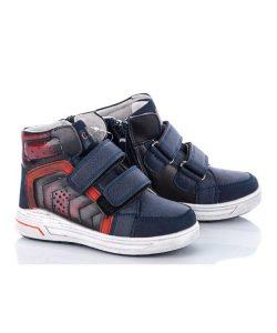 модные ботинки для мальчика на липучках весна осень 7172 фотография