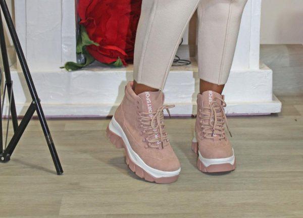 ботинки женские в спортивном стиле розовые 250919 фотография