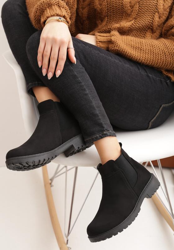 ботинки женские замшевые челси черные 151019 151019 фотография