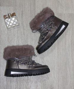ботинки зимние для девочки с натуральным мехом, 32-37 8383 фотография