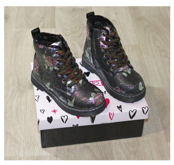 ботинки зимние на девочку черные 161019 фотография
