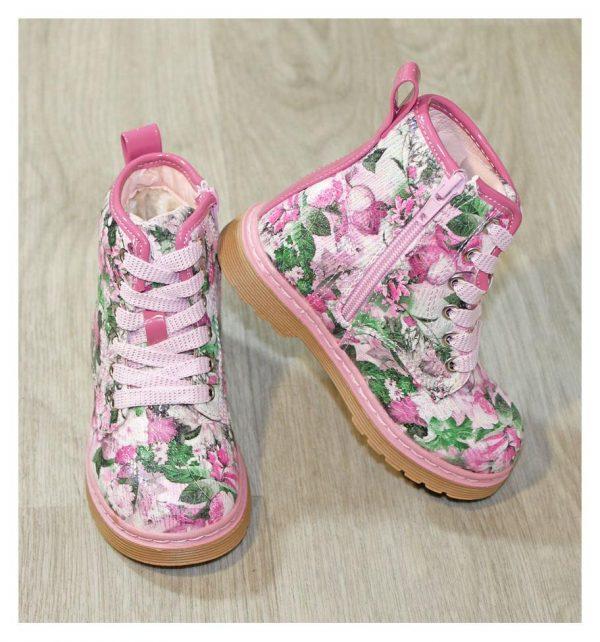 ботинки зимние на девочку розовые 171019 фотография