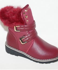 ботинки зимние кожанные для девочки 2269 фотография