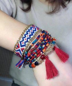 браслет женский в стиле бохо, вышивка 21904 фотография