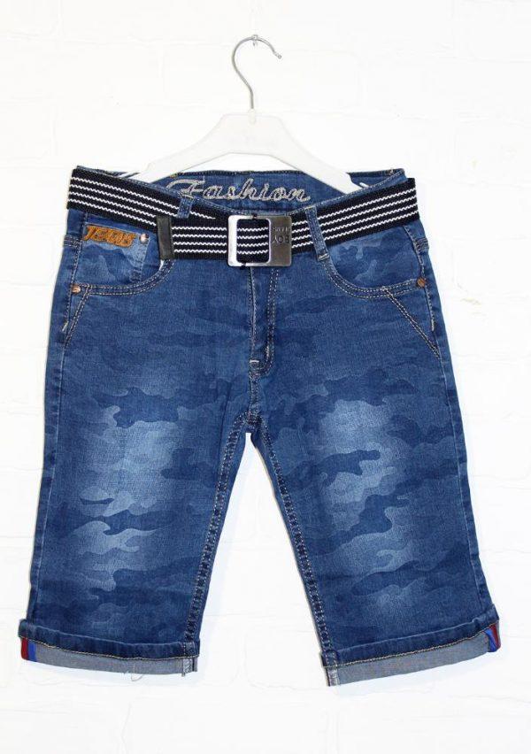 бриджи на мальчика джинсовые синий камуфляж 5454 фотография