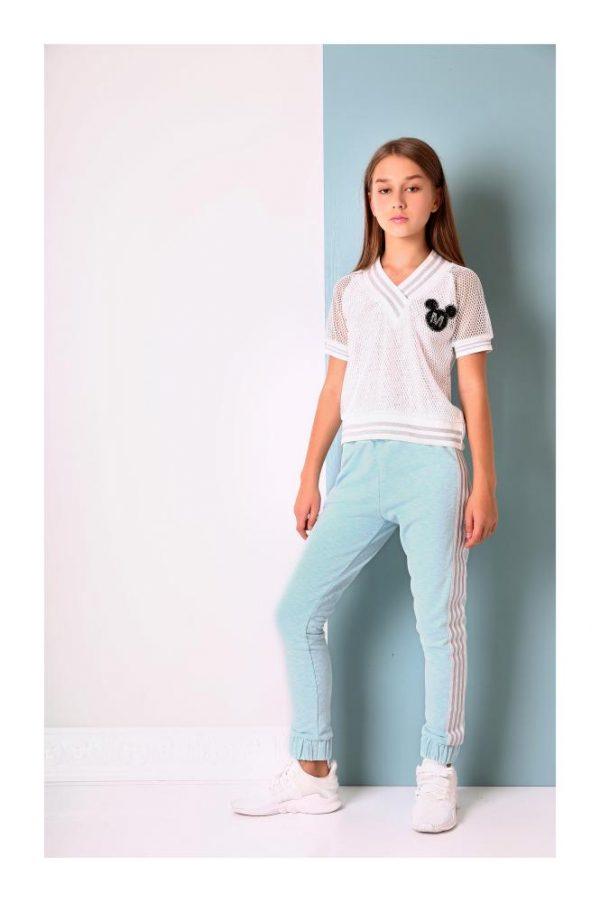 брюки на девочку моне голубой 18866 фотография