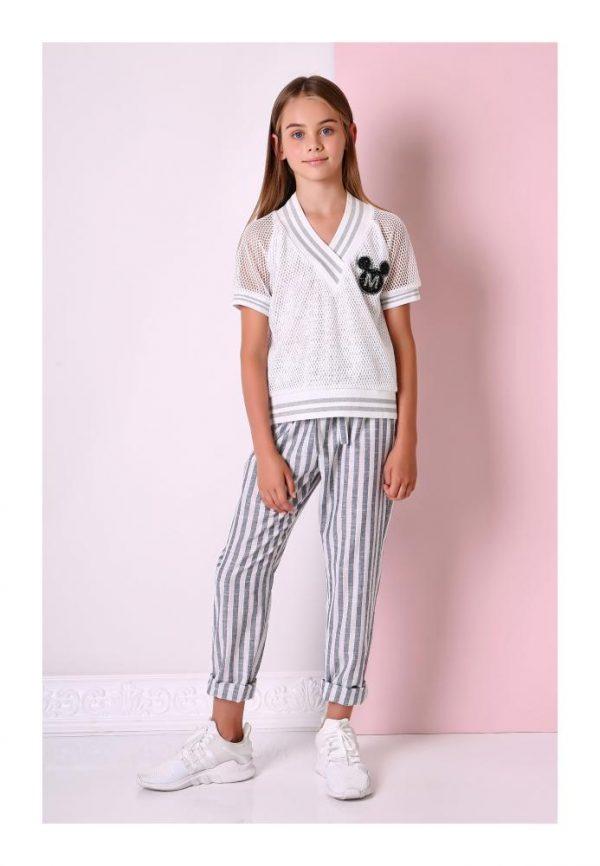брюки на девочку полоска 1883 фотография
