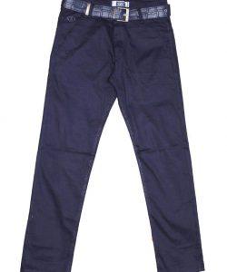 брюки на мальчика коттон синие 83211 фотография