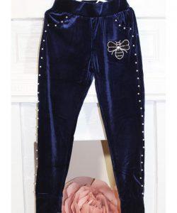 брюки велюровые для девочки в спортивном стиле гламур 52123 фотография
