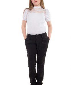 брюки школьные утепленные для девочки подростка 71015 фотография