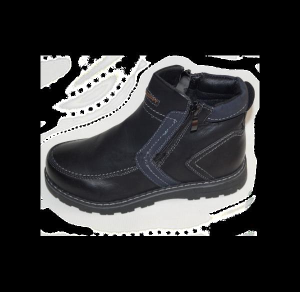 демисезонные ботинки для мальчика на молнии 7333 фотография
