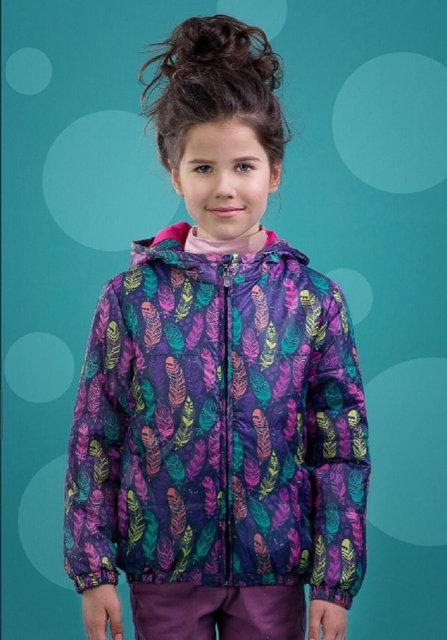демисезонная куртка для девочки, перышко 70316 фотография