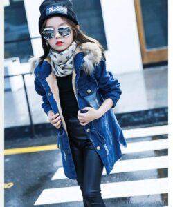 детская джинсовая куртка на девочку, в тренде 3390 фотография