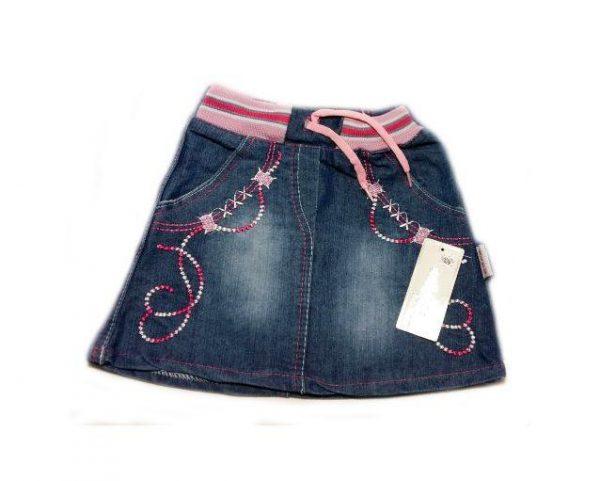детская джинсовая юбка для девочки, вышивка 5337 фотография
