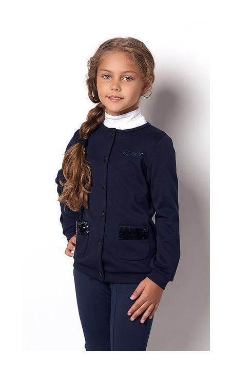 детская школьная кофта для девочки, паетка 2227 фотография