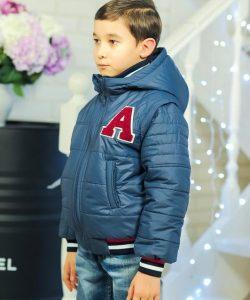 детская куртка жилетка на мальчика весна осень 90217 фотография