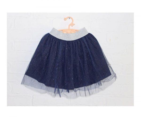 детская нарядная юбка для девочки синяя 51119 фотография