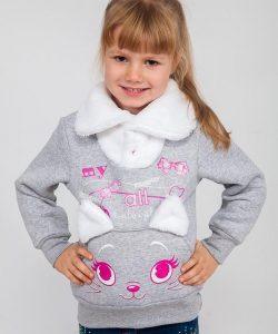 детская теплая кофта для девочки 9285 фотография