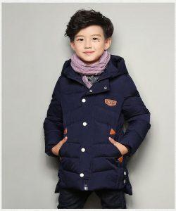 детская зимняя куртка для мальчика, бой 190818 фотография