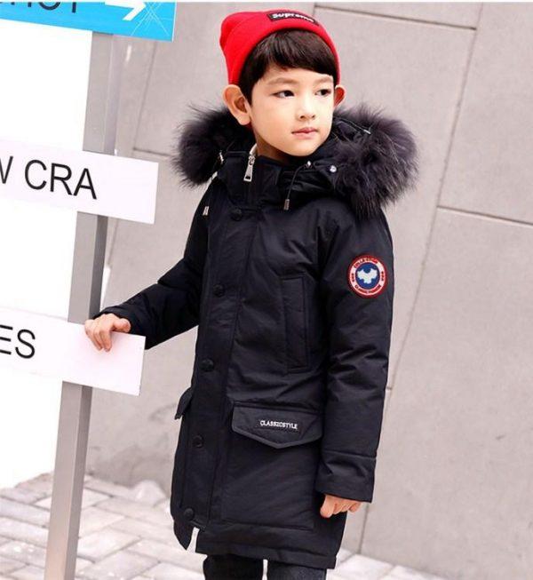 детская зимняя куртка для мальчика 9923 фотография