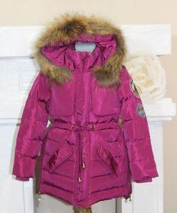 детская зимняя куртка на девочку с натуральной опушкой 21214 фотография