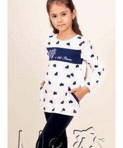 детская кофта туника для девочки с карманами 212166 фотография