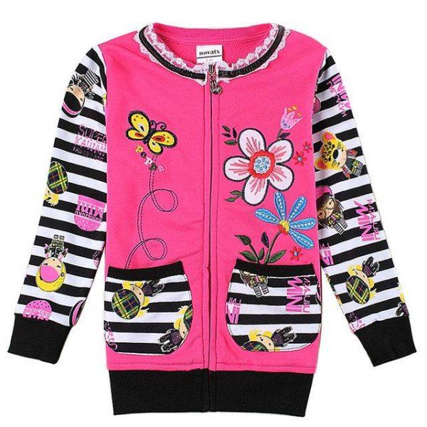 детская красивая кофта для девочки на молнии 5738 фотография