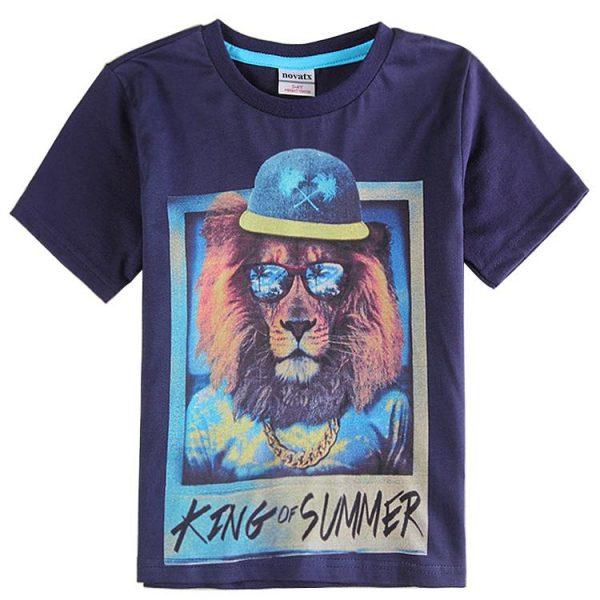 детская летняя футболка для мальчика, король лета 1105164 фотография