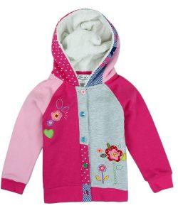 детская утепленная кофта для девочки с капюшоном 5692 фотография