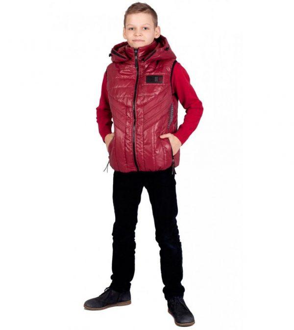 детский теплый жилет на мальчика, спринт 130317 фотография