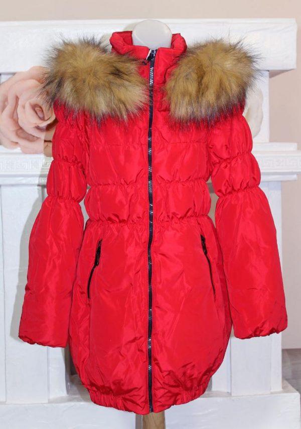 зимняя куртка пуховик на девочку 911142 фотография