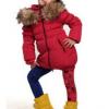 зимняя куртка пуховик на девочку 911142 фотография №2
