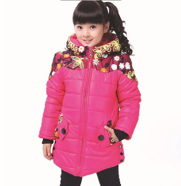 детская зимняя куртка на девочку 10026 фотография