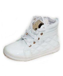 детские белые ботинки для девочки весна осень 7012 фотография