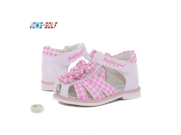 детские босоножки для девочки розовая клеточка, 21-26 2719 фотография
